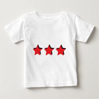 3 estrellas rojas de lujo playera