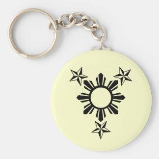 3 estrellas y Sun Llavero Personalizado