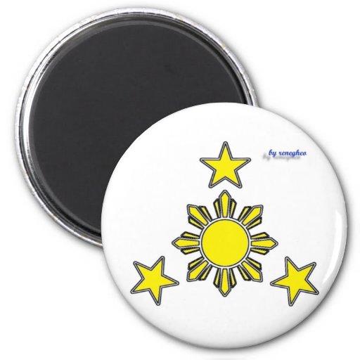 3 estrellas y un sol imán de frigorifico
