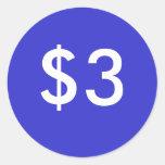 $3 ETIQUETAS REDONDAS