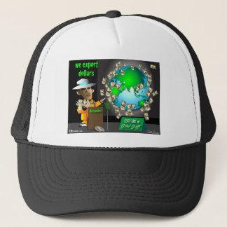 3 export dollars trucker hat