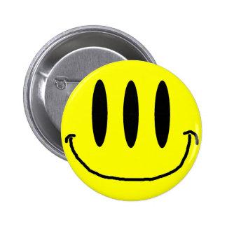 3 Eyed Smiley Face Button