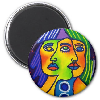 3 Faced by Piliero 2 Inch Round Magnet