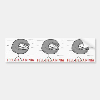 3 Feel Like A Ninja Bumper Sticker