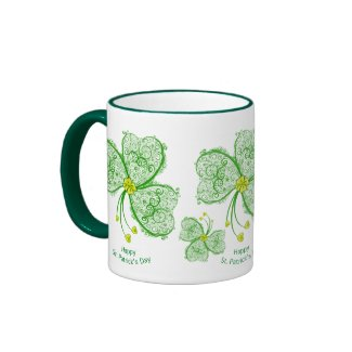 3 Filigree Clover - mug mug