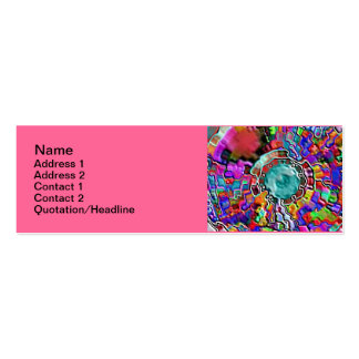 "3"" flaco artístico x 1"" tarjeta de visita"
