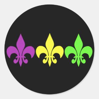 3 Fleur de Lis Classic Round Sticker
