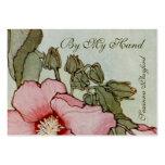 #3 floral delicado tarjeta de visita