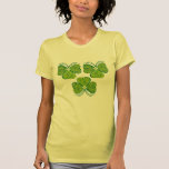 3 Floral Lucky Clovers Tshirts