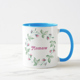 3 florales Mamaw Taza