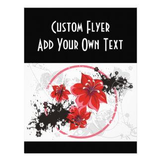 3 flores bonitas - color tarjeta publicitaria
