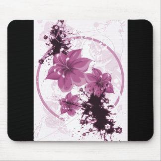 3 flores bonitas - rosa alfombrilla de raton