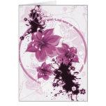 3 flores bonitas - rosa tarjeta