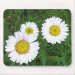 3 flores tapete de ratón