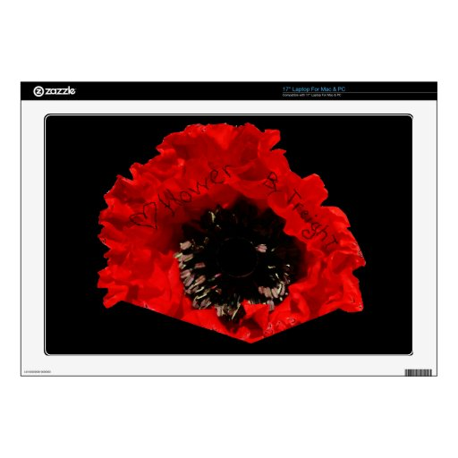 """<3 Flower By TreighT 17"""" Laptop Skin For Mac & PC"""