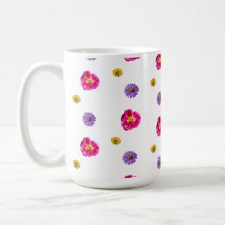 3 Flowers and Bees Coffee Mug