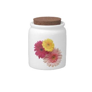 3 Flowers Candy Jar