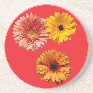 3 Flowers Drink Coaster