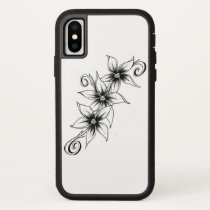 3 Flowers iPhone X Case
