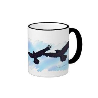 3 FLYING RAVENS Gift Series Ringer Mug
