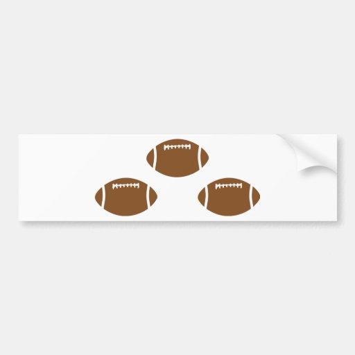 3 footballs bumper sticker