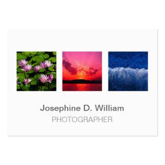 3 fotos de gran tamaño o moda moderna gris blanca plantilla de tarjeta de negocio