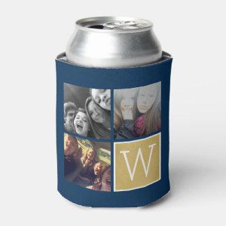 3 fotos - monograma del personalizado del collage enfriador de latas