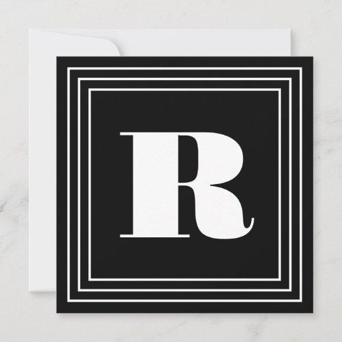 3 Frame Monogram  Black  White