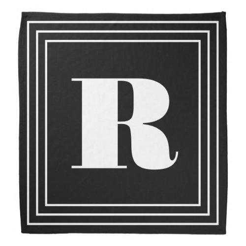 3 Frame Monogram  Black  White Bandana