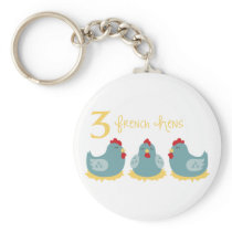 3 French Hens Keychain