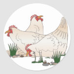 3 French Hens Stickers
