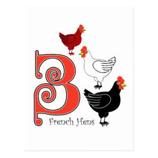 3 gallinas francesas postales