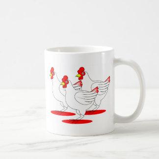 3 gallinas francesas tazas de café