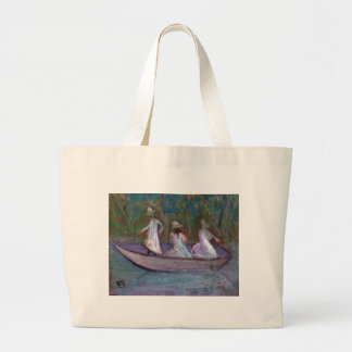 3 GIRLS IN A BOAT LARGE TOTE BAG
