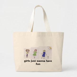 3 girls large tote bag