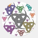 3 goddess round sticker