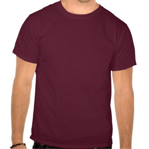 3 Golden Lions on Burgundy Tee Shirt