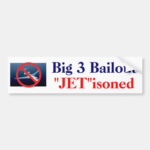 """3 grandes - """"jet """" isoned etiqueta de parachoque"""