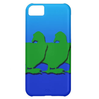 3 Green Christmas Geese with Christmas Star Case For iPhone 5C