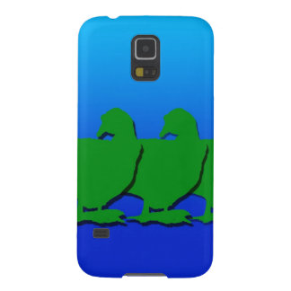 3 Green Christmas Geese with Christmas Star Galaxy S5 Case