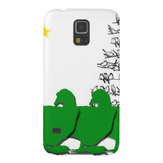 3 Green Christmas Geese with Christmas Tree & Star Galaxy S5 Covers