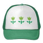 3 Green Flowers Trucker Hat