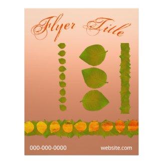 3 Green Leaves Trim Event Flyer