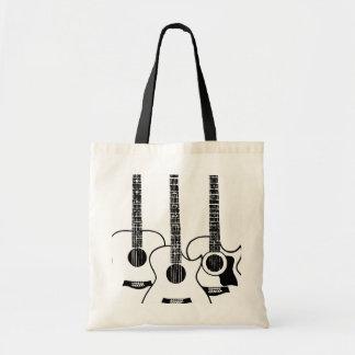 3 guitars tote bag