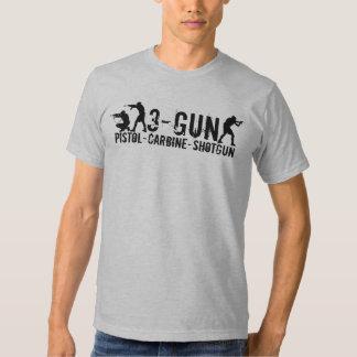3-Gun - Pistol - Carbine - Shotgun T-Shirt