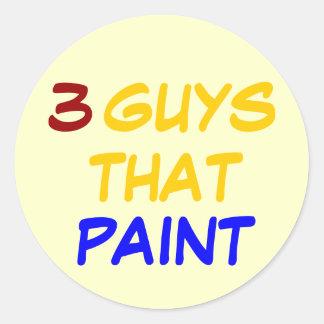 3 GUYS THAT PAINT CLASSIC ROUND STICKER