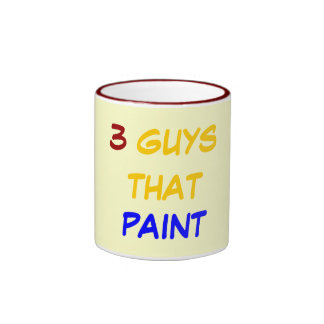 3 GUYS THAT PAINT COFFEE MUGS