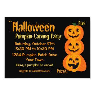 3 Halloween Pumpkins Card