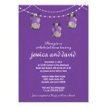 3 Hanging Mason Jars - Engagement Party Custom Invites