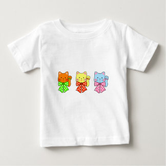 3 happiness cats baby T-Shirt